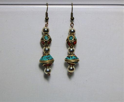 Large Bead Strand Earring