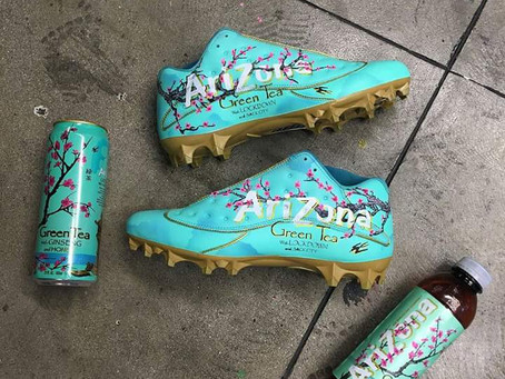 Arizona Iced Tea Jordan 13 Low cleats for Jalen Ramsey
