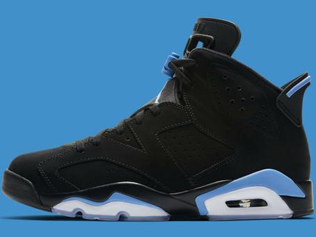 Air Jordan 6 inspired by Michael Jordan's college days.