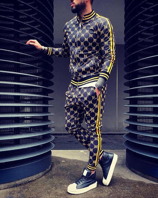 New men's trousers + jacket Suit Jogger Casual Streetwear