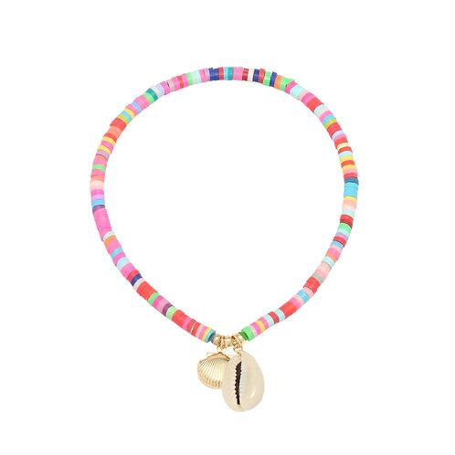 Gekleurde kralen enkelband