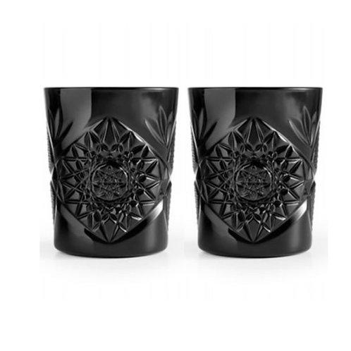 Set van 2 zwarte waterglazen - Limited edition