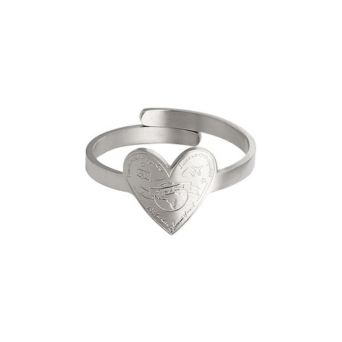 Silver Travel and Love Ring
