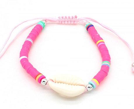 Roze Schelpen Armband