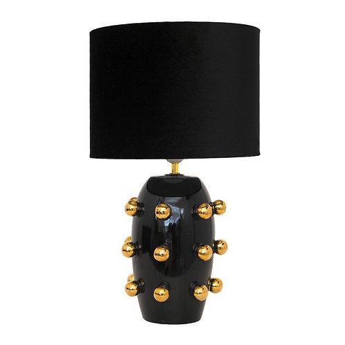 Ceramic Lamp Black Big Dots
