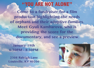 "Fundraiser for ""You Are Not Alone!"""