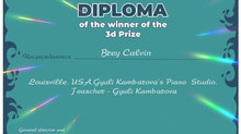 International Award of Calvin Brey