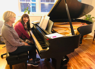 Everyone Is Enjoying Our Grand Piano!