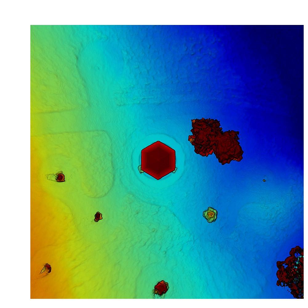 Vue modélisée topographique (élévation du terrain)