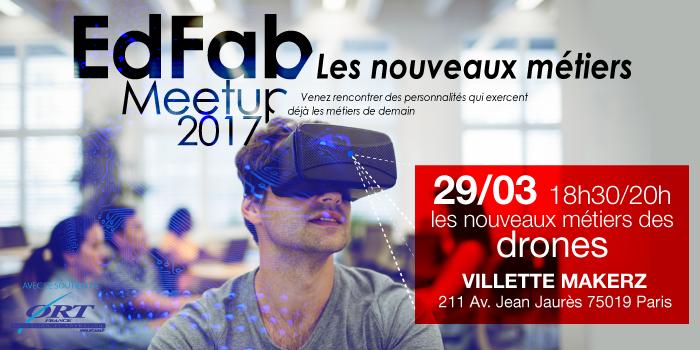 EdFab Meetup 2017 - Les nouveaux métiers du drone