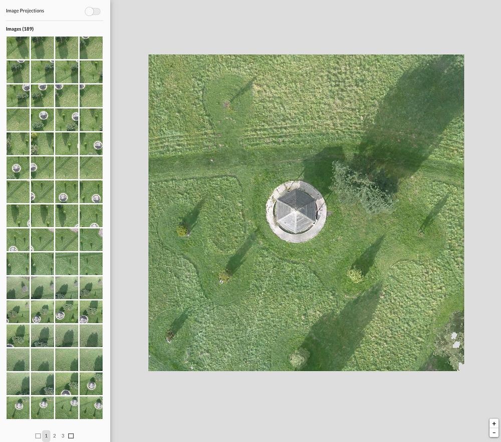 Orthophotographies de 189 images