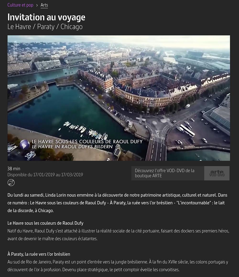 Invitation au voyage : Le havre sous les couleurs de Raoul Dufy - 7CIS