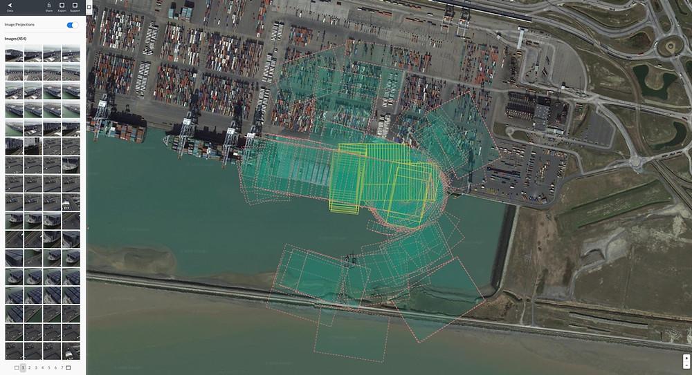 Modélisation 3D du Navire CMA-CGM Antoine Saint Exupéry - images drone : 7CIS