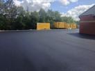 Asphalt car-park and yard Howdens Dronfi