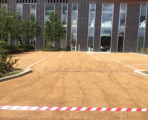 Bitumen bounded gravel car-park