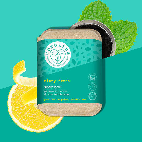 Minty Fresh - Peppermint, Lemon and Activated Charcoal
