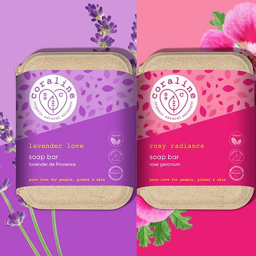 Flower Power - Floral Twin Box - Lavender de Provence - Rose Geranium