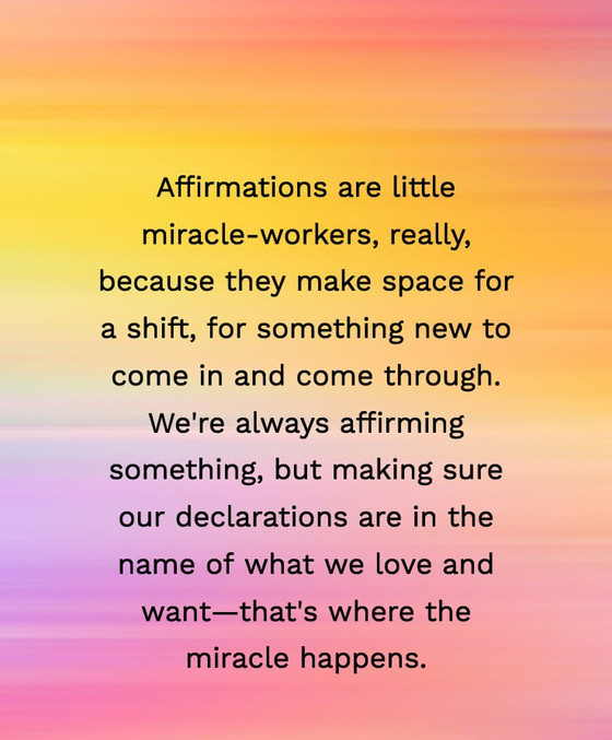 Positive Affirmations Work Miracles