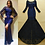 Thumbnail: V Back Long Sleeves Sexy Plit Front Dress