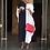 Thumbnail: Black/White Color Block Midi Bubu/Caftan Dress