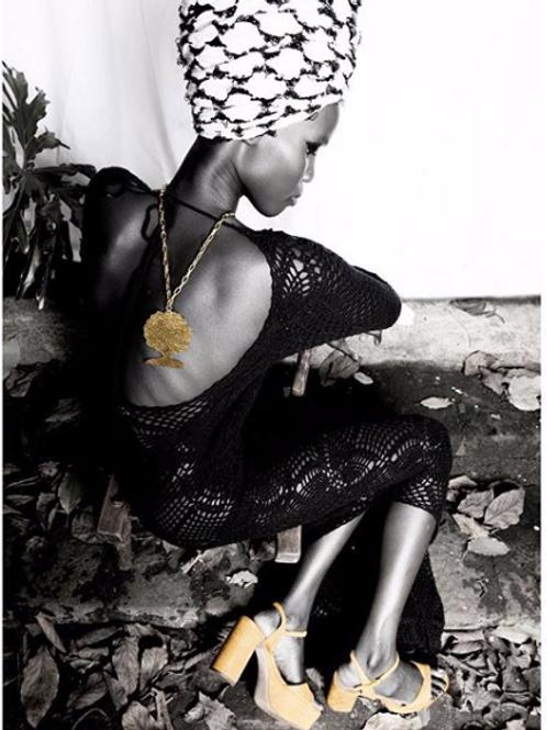 Afro Queen Pendant Necklace