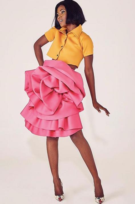 Crop Top/Flower Skirt