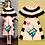 Thumbnail: Sleeveless Printed Striped Floral Dress
