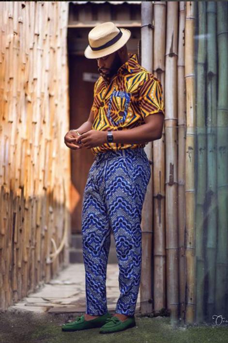 Men Mixed Print Short Sleeves Shirt & Pant