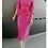 Thumbnail: Patchwork Ruffles Blouse w Straight Pencil Skirt