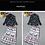 Thumbnail: Printed Detachable Sash Bow Shirts w/skirt twinset