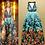 Thumbnail: V Neck Spaghetti Straps Sequined Printed Dres