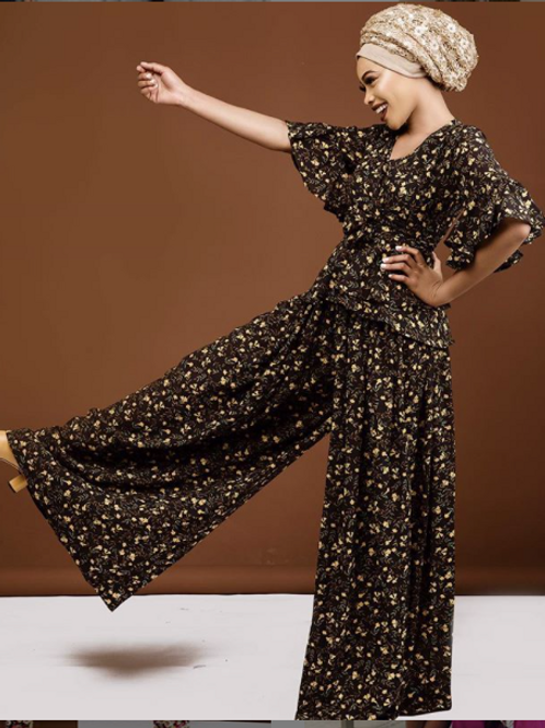 Exaggerated Palazzo Pant Suit