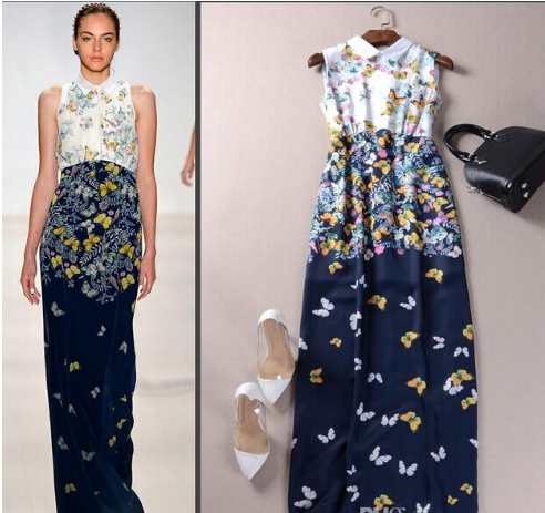 Sleeveless Butterflies Printed dress