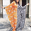 Thumbnail: Polka Dot/Orange Color Block Maxi