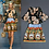 Thumbnail: Vintage Printed O Neck Blouses with A line Skirts