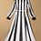 Thumbnail: Striped Color Block Long Elegant Dress