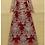 Thumbnail: Golden Embroidery Flowers Elegant Dress