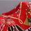 Thumbnail: 3/4 Sleeves Printed Elegant A Line Dress