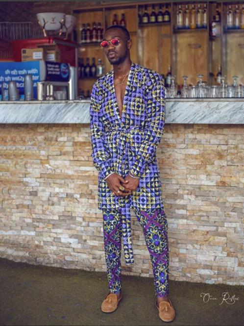 Unisex Mismatched Kimono & Pant Set
