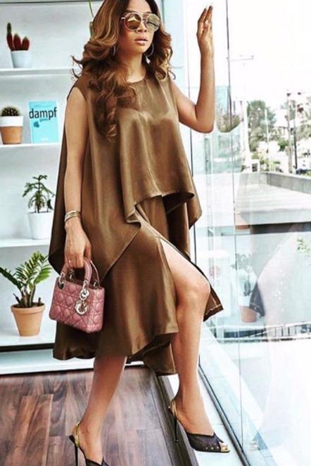 Mocha Cord Top/Skirt Set