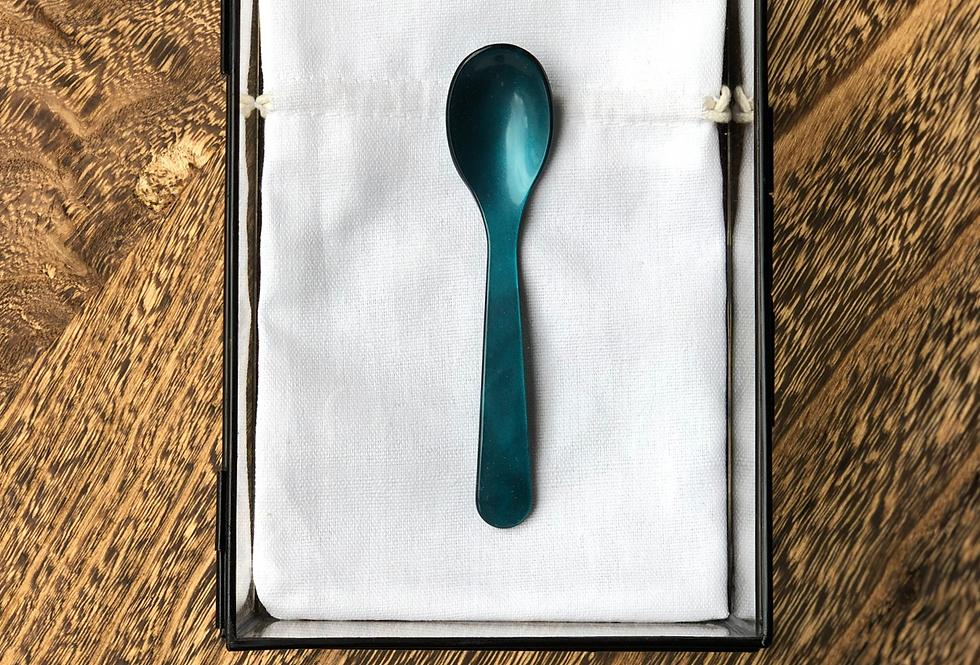 Handmade Coffee Spoon | Petrol