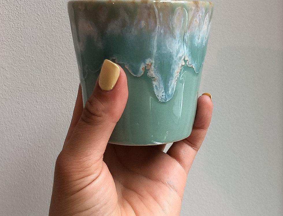 Turquoise koffiekopje