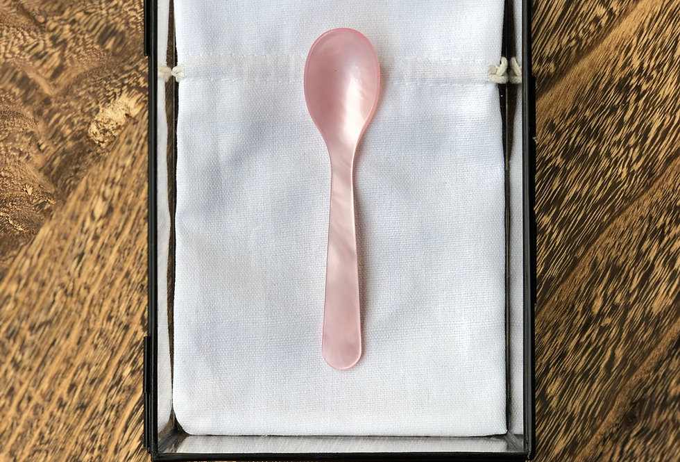 Handmade Coffee Spoon   Soft Pink