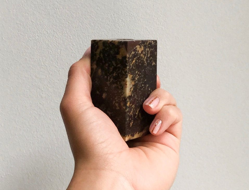 Broste C. Two-sided Candle | Brown Marble