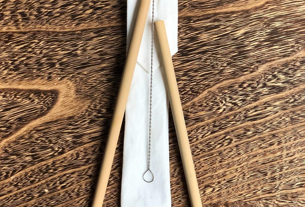 Bamboe rietjes   set van 2
