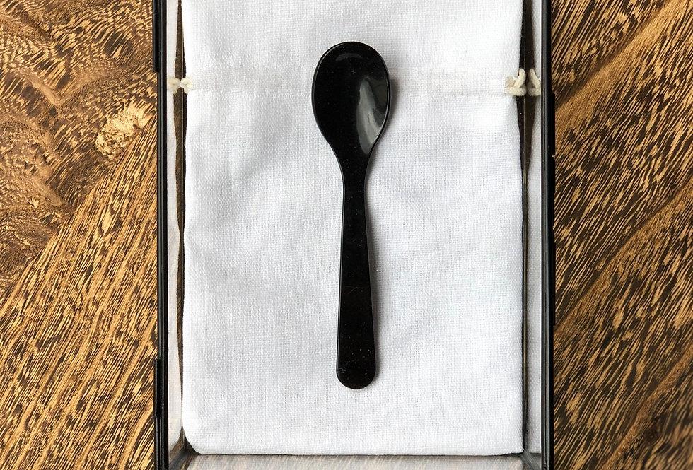 Handmade Coffee Spoon   Black
