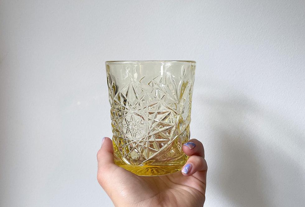 Geel water/whiskey glas