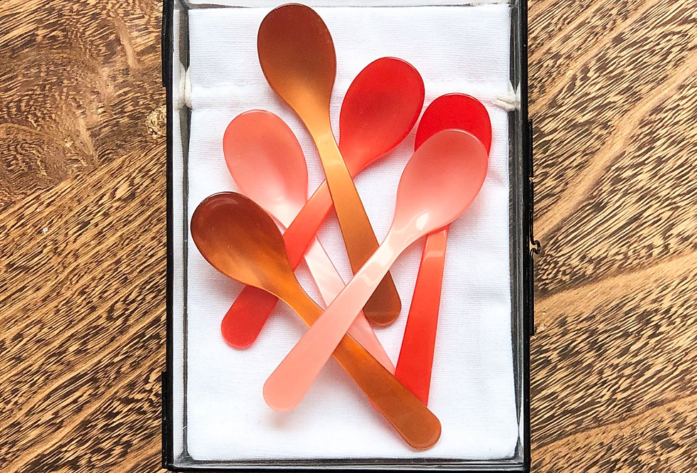 Lepels koffielepels cognac rood apricot coffee spoon