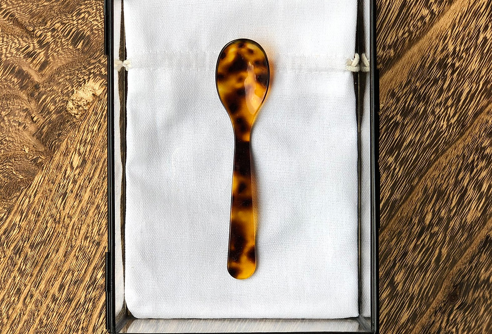Handmade Coffee Spoon | Tortoiseshell