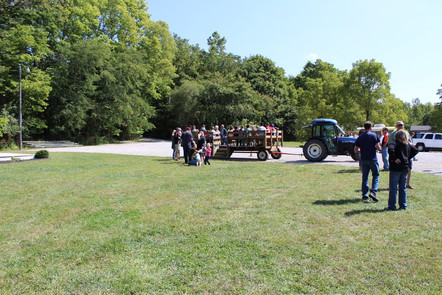 Tractor-wagon rides are always a hit.